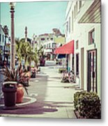Newport Beach Main Street Balboa Peninsula Picture Metal Print by Paul Velgos