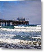 Newport Beach Pier In Orange County California Metal Print by Paul Velgos