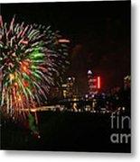 Niagara Falls Fireworks Metal Print by Charline Xia