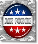 Nice Air Force Shield 2 Metal Print by Pamela Johnson