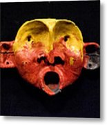 Nico Yellow And Red Mask Metal Print by Mark M  Mellon