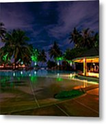 Night At Tropical Resort 1 Metal Print by Jenny Rainbow