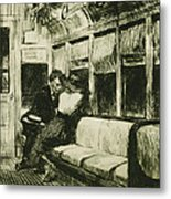 Night On The El Train Metal Print by Edward Hopper
