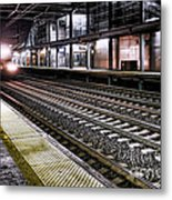 Night Train Metal Print by Olivier Le Queinec