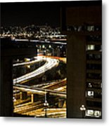 Nighttime Commute  Metal Print by Andrew Pacheco