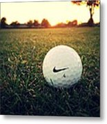 Nike Golf Ball Metal Print by Derek Goss