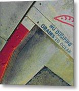 No Dumping - Drains To Ocean No 1 Metal Print by Ben and Raisa Gertsberg