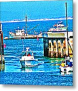 No Wake Zone Gate Metal Print by Joseph Coulombe