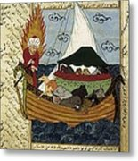 Noahs Ark. 16th C. Ottoman Art Metal Print by Everett