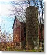 Non Working Barn Property Metal Print by Tina M Wenger