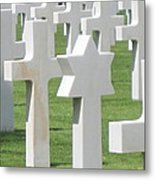 Normandy American Cemetery Metal Print by HEVi FineArt