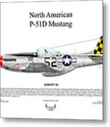 North American P-51d Shimmy Iv Metal Print by Arthur Eggers