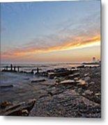 North Point Sunset Metal Print by CJ Schmit