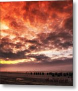 North Sea Sunset Metal Print by Mountain Dreams