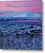 Norwegian Arctic Twilight Metal Print by David Broome