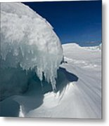 Nothing But Ice Metal Print by Sandra Updyke