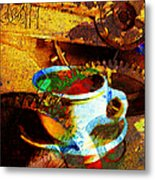 Nothing Like A Hot Cuppa Joe In The Morning To Get The Old Wheels Turning 20130718 Metal Print by Wingsdomain Art and Photography