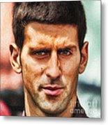 Novak Djokovic Metal Print by Nishanth Gopinathan
