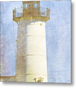 Nubble Lighthouse Metal Print by Carol Leigh