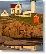 Nubble Lighthouse No 1 Metal Print by Jerry Fornarotto