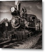 Number 4 Narrow Gauge Railroad Metal Print by Bob Orsillo