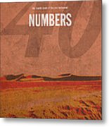 Numbers Books Of The Bible Series Old Testament Minimal Poster Art Number 4 Metal Print by Design Turnpike