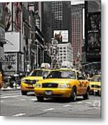 Nyc Yellow Cabs - Ck Metal Print by Hannes Cmarits