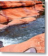 Oak Creek At Slide Rock Metal Print by Carol Groenen