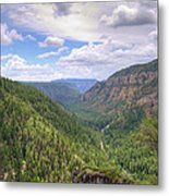 Oak Creek Canyon Metal Print by Ricky Barnard