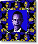 Obama Abstract Window 20130202m118 Metal Print by Wingsdomain Art and Photography