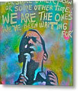 Obama In Living Color Metal Print by Tony B Conscious