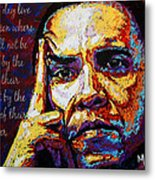 Obama Metal Print by Maria Arango