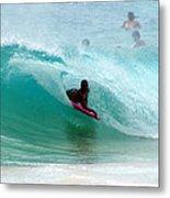 Obama's Boyhood Bodysurfing Beach Metal Print by Kevin Smith