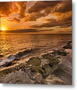 Ocean And Sunset Metal Print by Tin Lung Chao