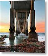 Ocean Beach California Pier 2 Metal Print by Larry Marshall