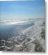 Ocean Foam Metal Print by Silvie Kendall