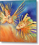 Ocean Lions Metal Print by Tracy L Teeter