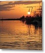 Ocean Sunset 3rd Metal Print by Shirley Sirois