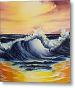 Ocean Sunset Metal Print by C Steele