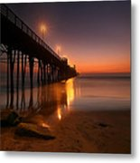 Oceanside Sunset 15 Metal Print by Larry Marshall