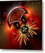 Ocf 199 Fido In Abstract Metal Print by Claude McCoy