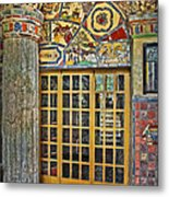 October At Fonthill Castle Metal Print by Susan Candelario
