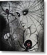 Oh What Tangled Webs We Weave Metal Print by Carla Carson