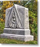 Ohio At Gettysburg - 29th Ohio Volunteer Infantry Autumn Mid-afternoon Culp's Hill Metal Print by Michael Mazaika
