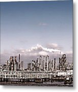 Oil Refinery Metal Print by Olivier Le Queinec