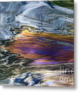 Oil Slick Abstract Metal Print by Sheldon Kralstein