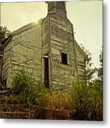 Old Abandoned Country  School Metal Print by Ann Powell