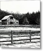 Old Barn In Franklin Tennessee Metal Print by Janet King