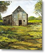 Old Barn Metal Print by Lee Piper