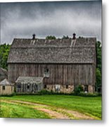 Old Barn On A Stormy Day Metal Print by Paul Freidlund